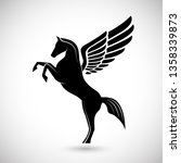 silhouette pegasus mythical...   Shutterstock . vector #1358339873