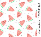 seamless pattern with slice of... | Shutterstock . vector #1358341463
