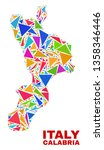 mosaic calabria region map of...   Shutterstock .eps vector #1358346446