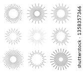 set abstract sunbursts hand...   Shutterstock .eps vector #1358357366