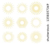 set abstract sunbursts hand... | Shutterstock .eps vector #1358357369