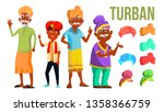 turban set vector. classic and... | Shutterstock .eps vector #1358366759