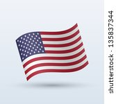 united states flag waving form... | Shutterstock .eps vector #135837344