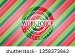 workforce christmas badge. | Shutterstock .eps vector #1358373863