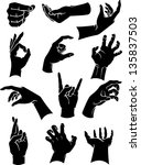 hand signs and gestures | Shutterstock .eps vector #135837503