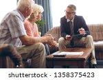 front view of matured caucasian ... | Shutterstock . vector #1358375423