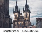 gothic church of our lady... | Shutterstock . vector #1358380253