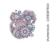 paisley isolated pattern.... | Shutterstock .eps vector #1358387810