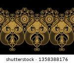 3d rendering. golden stylized... | Shutterstock . vector #1358388176