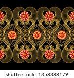 3d rendering. golden stylized... | Shutterstock . vector #1358388179