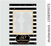 fifty and fabulous   50th... | Shutterstock .eps vector #1358395073