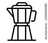 coffee prepare kettle icon.... | Shutterstock .eps vector #1358403080