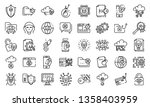 cyber attack icons set. outline ... | Shutterstock .eps vector #1358403959