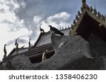 temple in thailand and thai... | Shutterstock . vector #1358406230