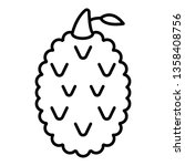 tasty lychees icon. outline... | Shutterstock .eps vector #1358408756