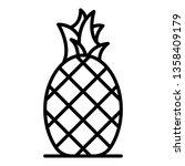tasty pineapple icon. outline... | Shutterstock .eps vector #1358409179