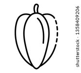 whole carambola icon. outline... | Shutterstock .eps vector #1358409206