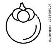 tasty mangosteen icon. outline... | Shutterstock .eps vector #1358409209
