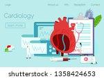 modern heart medication... | Shutterstock .eps vector #1358424653