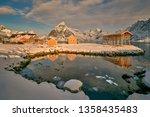 beautiful norway  the lofoten... | Shutterstock . vector #1358435483