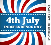 independence day design with... | Shutterstock .eps vector #135845936