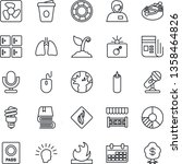 thin line icon set   bomb in... | Shutterstock .eps vector #1358464826
