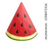 tasty watermelon slice icon.... | Shutterstock .eps vector #1358471516