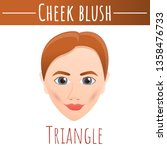 cheek blush triangle concept... | Shutterstock .eps vector #1358476733