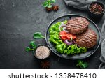 fried cutlet for burger with...