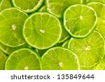 Green Background With Citrus...