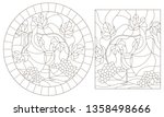 set of contour illustrations of ... | Shutterstock .eps vector #1358498666