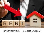 blocks with the word rent  down ... | Shutterstock . vector #1358500019