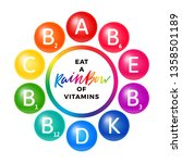 rainbow colored creative...   Shutterstock .eps vector #1358501189