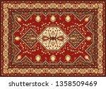 persian carpet texture....   Shutterstock .eps vector #1358509469