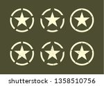 set of u.s military stars with... | Shutterstock .eps vector #1358510756