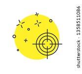 modern concept target aim icon  ... | Shutterstock .eps vector #1358511086