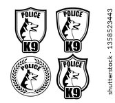 chevron of guard dogs of police ... | Shutterstock . vector #1358523443