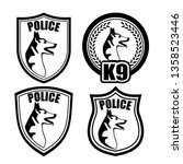 chevron of guard dogs of police ... | Shutterstock . vector #1358523446