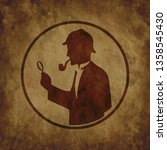 icon of the detective with a... | Shutterstock . vector #1358545430