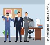 businessmen wearing virtual... | Shutterstock .eps vector #1358547449
