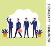 business coworkers cartoons | Shutterstock .eps vector #1358548073
