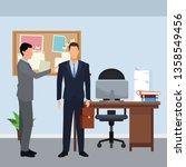 businessmen with briefcase | Shutterstock .eps vector #1358549456