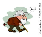 old man with a rose | Shutterstock . vector #1358561630
