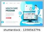 web page design template health ...
