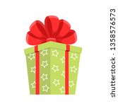 cartoon green gift box.... | Shutterstock .eps vector #1358576573