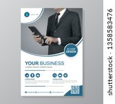 business cover a4 template for... | Shutterstock .eps vector #1358583476