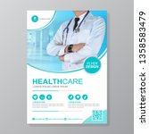 healthcare cover a4 template... | Shutterstock .eps vector #1358583479