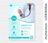 healthcare cover a4 template... | Shutterstock .eps vector #1358583866