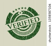 green verified distressed... | Shutterstock .eps vector #1358587106