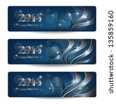 2014 new year vector banners ... | Shutterstock .eps vector #135859160